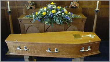 Priory medium coffin - with ring handles