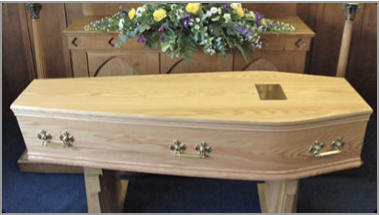 The Cardinal coffin - solid oak or mahogany