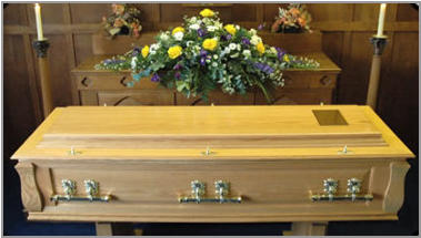 The Somer coffin - solid oak