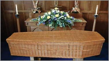 Bamboo Lattice coffin
