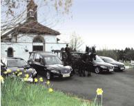 Jaguar hearse and limousine